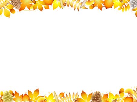 ai yellow fallen leaf background · wallpaper · frame