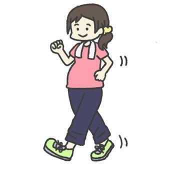 Pregnant women walking