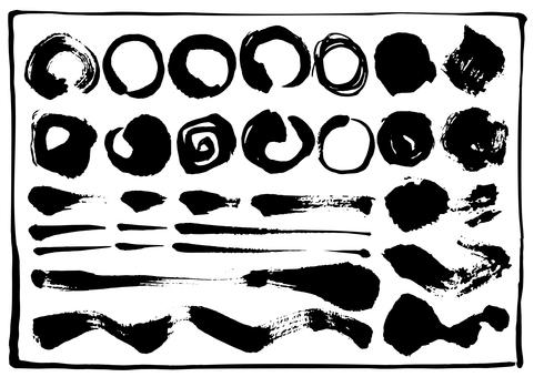Circular material set