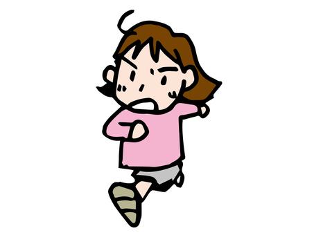 달리는 여자