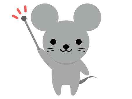 동물 쥐 지시봉