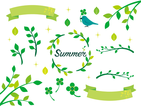 Summer green illustration