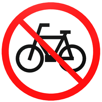 Bicycle prohibition mark