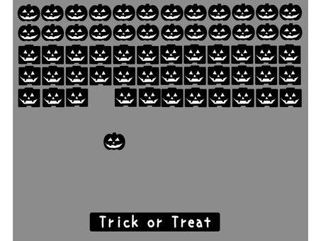 Halloween material retro game 1