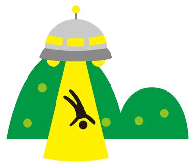 person taken away by ufo