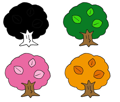 Four trees of trees