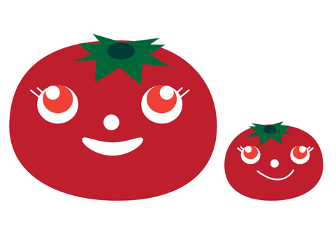Parent and child of tomato 200 × 200 mm