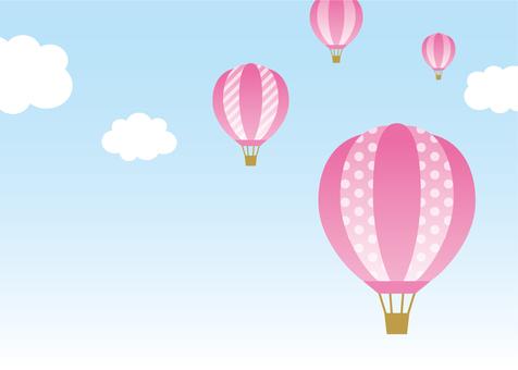 Balloon sky pink