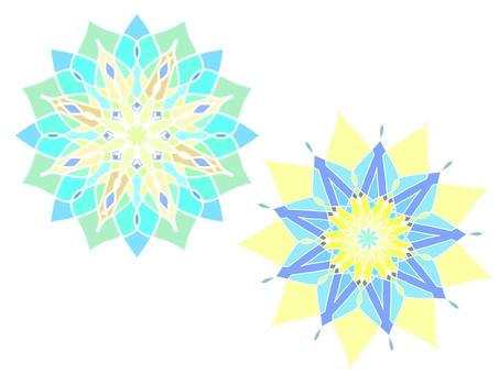 Mosaic tile pattern / colorful pattern set