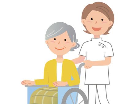 61014. Women's wheelchair, upper body