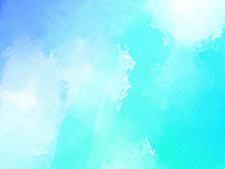 수채화 풍의 배경 소재 04 / 파랑