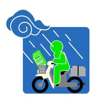 Bad weather newspaper delivery