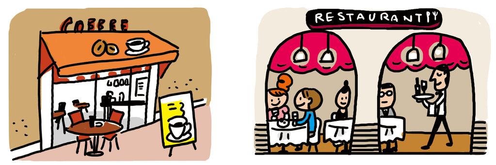 咖啡廳和餐廳