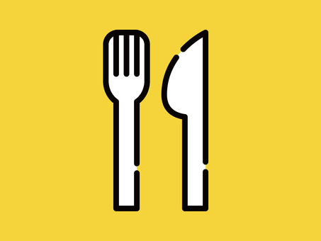 Big icon fork and knife