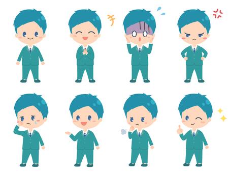 セット3/短ショート/スーツ/男性