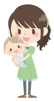 Parents and children * Parenting (hugging) 01