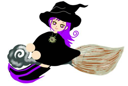 Halloween witch girl costume