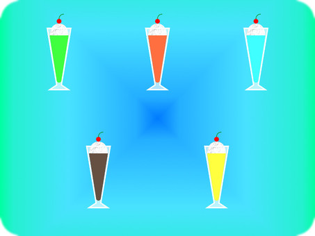 Various float drinks