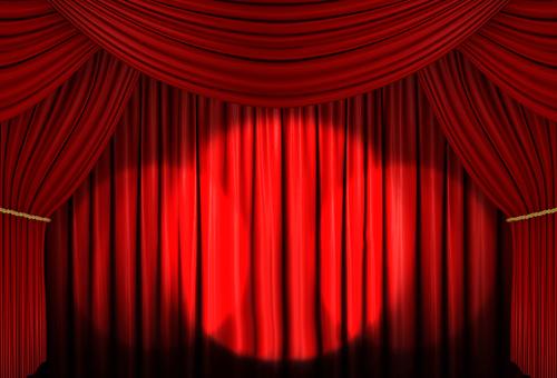 Red curtain 05 spot light