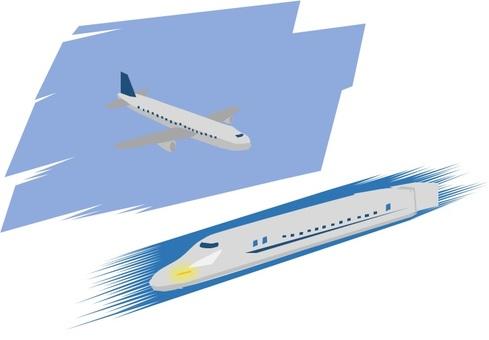 Flight machine or Shinkansen in operation