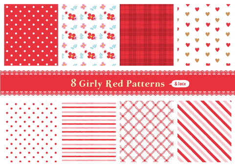 Girly pattern 03 _ red
