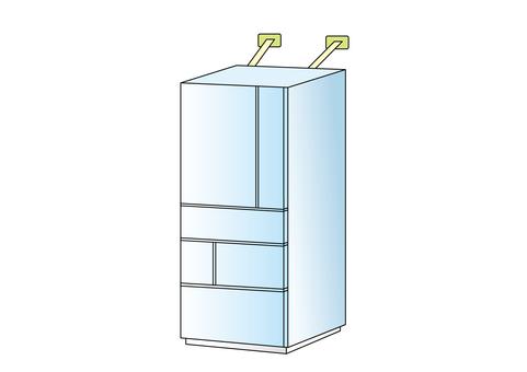 Seismic retrofit - Refrigerator
