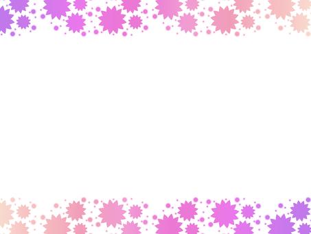 Gradient flower frame pink
