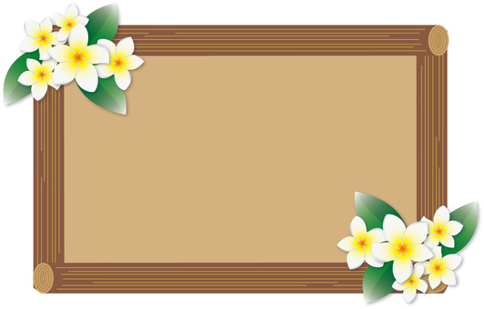 Plumeria and tree frame 02