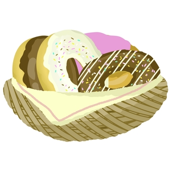 Donuts in the basket
