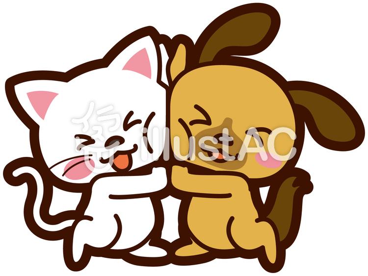 犬と猫の仲良しなイラストイラスト No 256025無料イラストなら