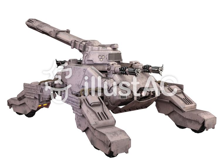 SF世界の戦車のイラスト