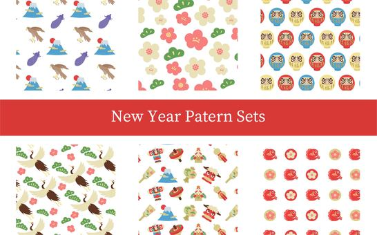 New Year pattern ver.1