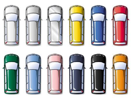 Car top view / Minivan