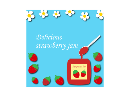 Illustration of strawberry jam