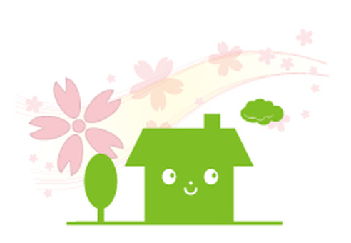 Cherry blossom dwelling (front) _ green