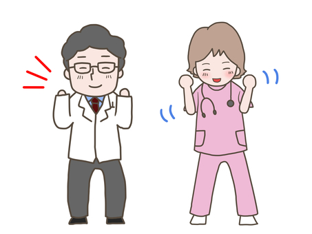 Hospital _ Let's do our best _ pair