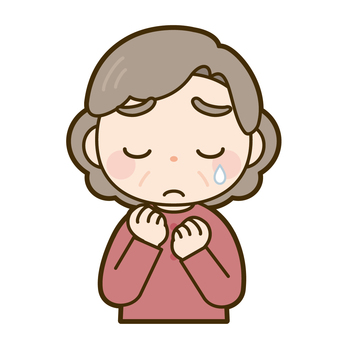 Grandma being sad