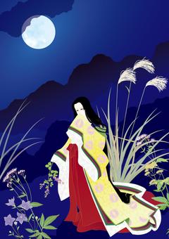 I love Hagi in the moonlit night