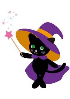 猫魔女 ハロウィン