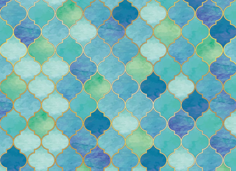 Mosaic · tile blue series