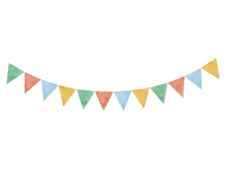 Watercolor-style garland