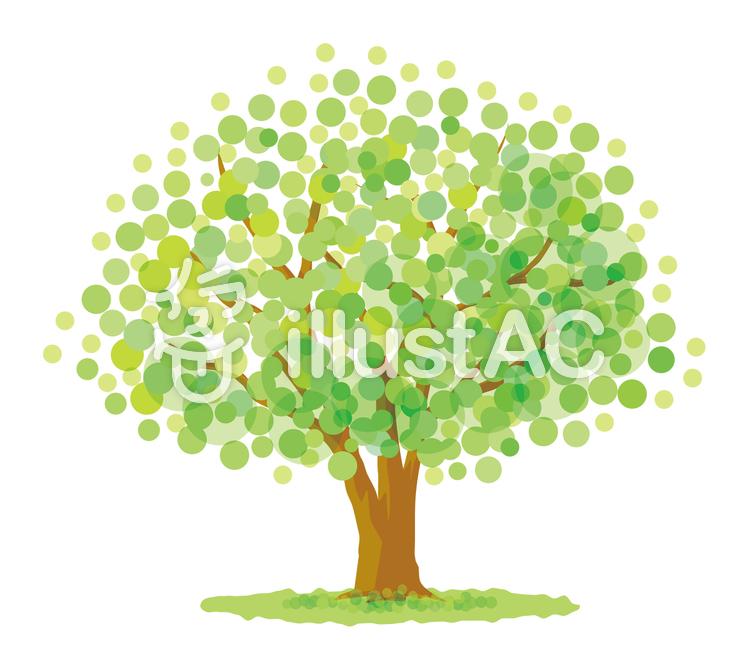 さわやかな緑の木のイラスト