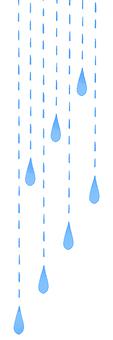 Water drop curtain left