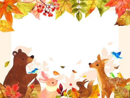 Fall animals message card