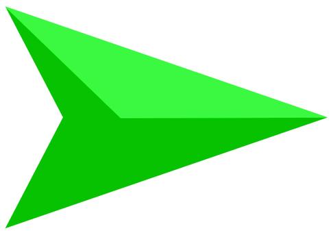 矢印 カーソル 緑07