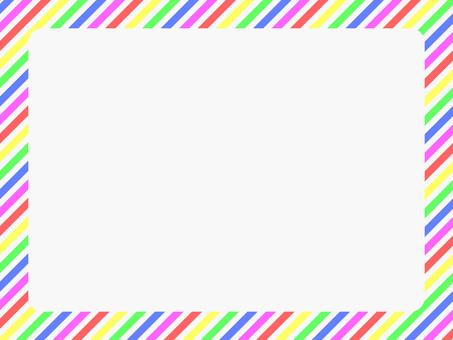 5 색 대각선 줄무늬 프레임 3