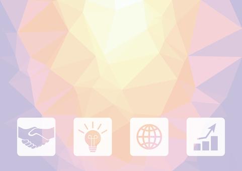 紫色數字業務矢量背景材料