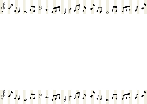 音符 フレーム ストライプ背景