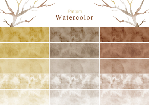 Watercolor pattern swatch part 8 brown