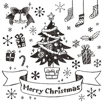 クリスマス 1 モノクロ